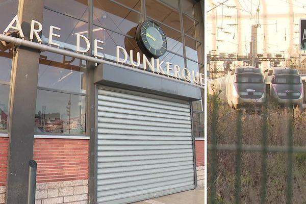 A Dunkerque, la gare est fermée depuis le mouvement de grève du 5 décembre.