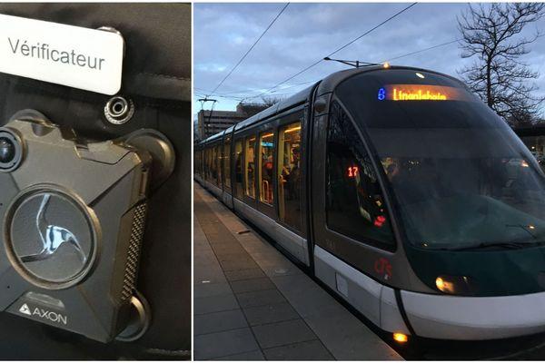 Un modèle de caméra-piéton testée par la Compagnie des transports strasbourgeois (CTS).