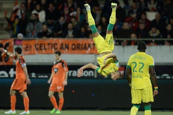 Bammou célèbre son but face à Lorient