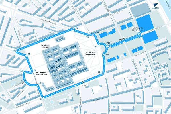 Le tracé de l'épreuve parisienne du championnat du monde de Formule E.