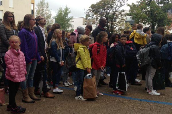 La rentrée à l'école Alix Providence, à Dijon, a eu lieu quatre jours avant la reprise des cours dans le secteur public.