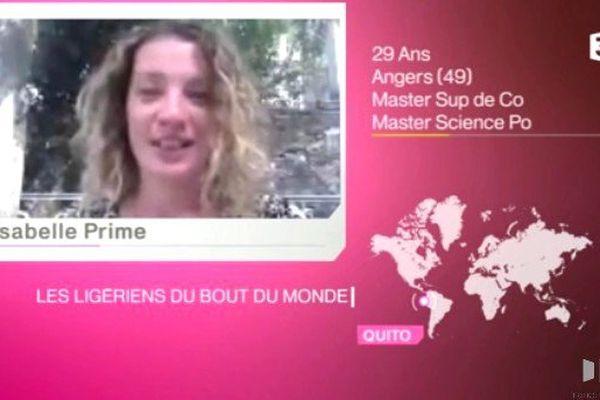 """Isabelle Prime  dans """" Les Ligériens du bout du monde"""""""