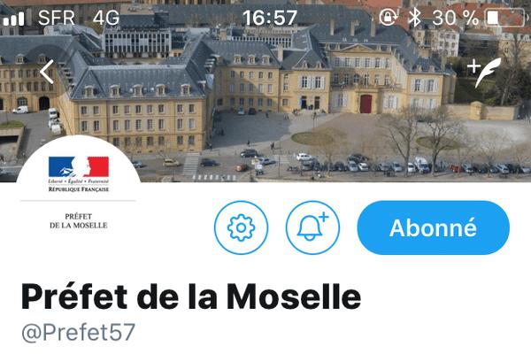 Compte officiel du préfet de la Moselle
