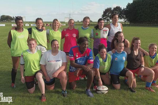 Kamini parmi les joueuses du Rugby Club d'Arras