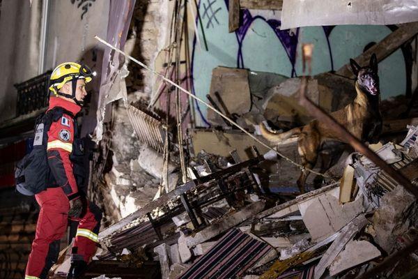 L'immeuble effondré était désaffecté d'après la BSPP.