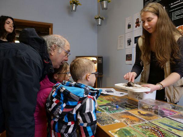 Anne-Lise Gérard anime l'atelier de l'insectarium