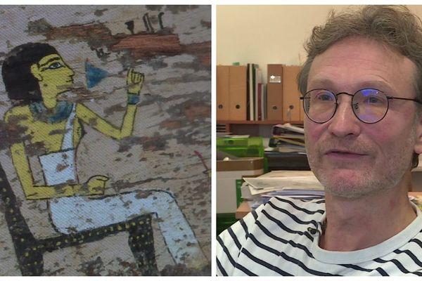 Professeur Frédéric Colin, directeur de l'Institut d'égyptologue de Strasbourg, est de retour d'une deuxième campagne de fouilles menée dans la région de Louxor.