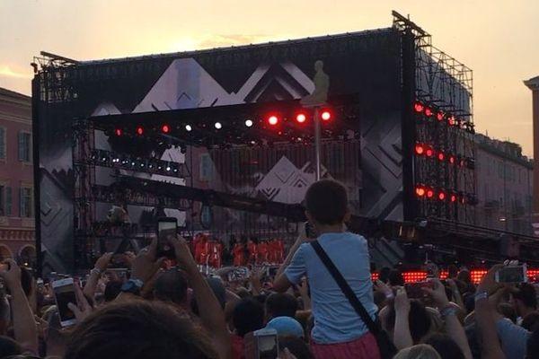 Le public rassemblé pour assister à la grande fête de la musique organisée à Nice en 2018.
