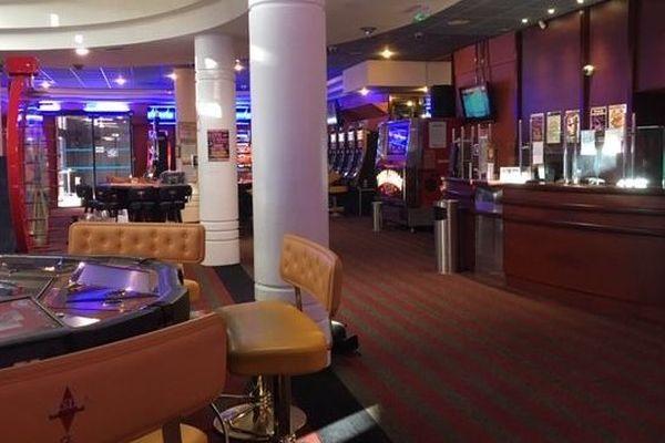 La salle du casino des Fumades, à Allègre-les-Bains (Gard)