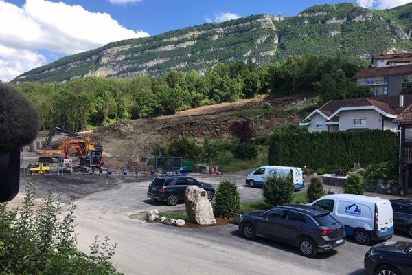 Un important glissement de terrain s'est produit le 22 juin 2021 à Bossey, en Haute-Savoie.