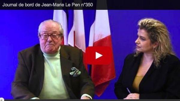"""""""Le journal de bord de JM Le Pen"""" présenté par Marie d'Herbais de Thun chaque semaine."""