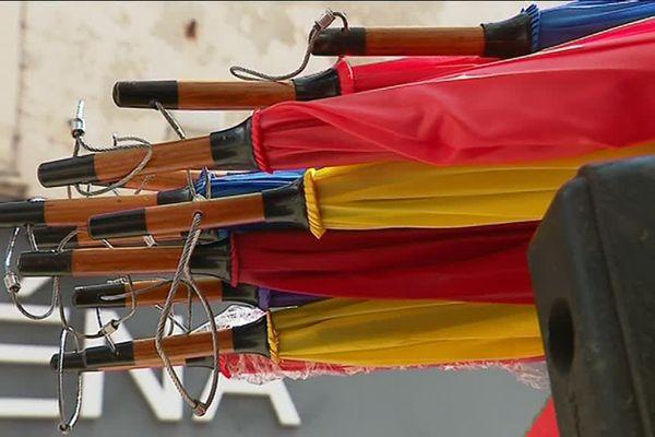 Les parapluies sont produits à Autun, dans l'entreprise Neyrat.