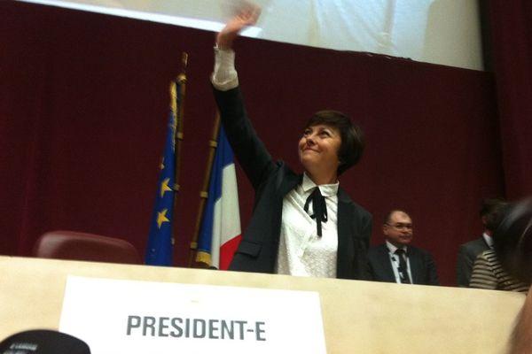 Carole Delga, la nouvelle présidente de la grande région Languedoc-Roussillon/Midi-Pyrénées