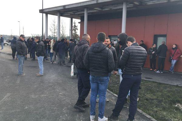 la prison de Condé-sur-Sarthe ce mercredi 20 mars