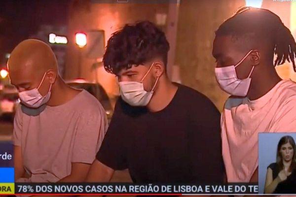 Faro (Portugal) - 3 jeunes Français dont 2 Héraultais dénonce des violences policières - juillet 2020.