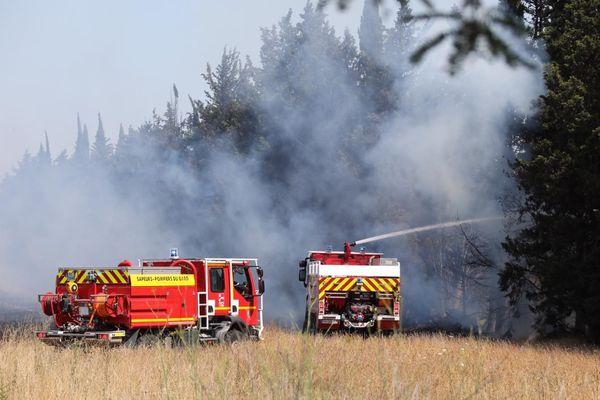 Le feu a touché des vergers mais n'a pas atteint d'habitations grâce au travail des pompiers