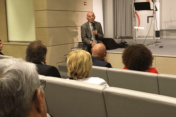 La délégation limousine reçue par le professeur Gérard Saillant, président de l'ICM