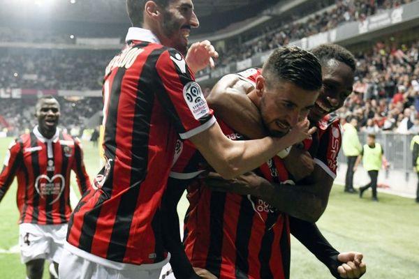 La joie de Mickael Le Bihan qui vient d'inscrire le dernier but de la saison.