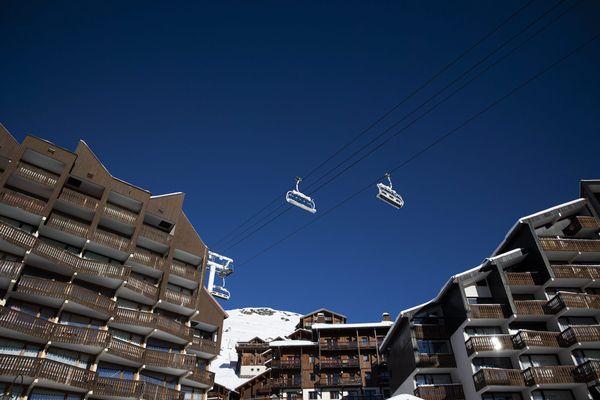 La station de ski de Val Thorens désertée, suite aux restrictions sanitaires et la fermeture des remontées mécaniques.