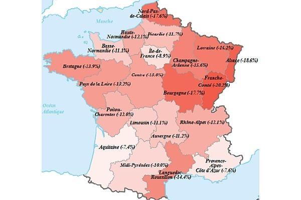 En Bourgogne, l'emploi intérimaire affiche un repli de 17,7% en mars 2013 par rapport à mars 2012.