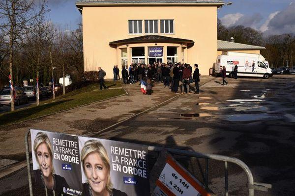Meeting de Marine Le Pen à Clairvaux-les-lacs