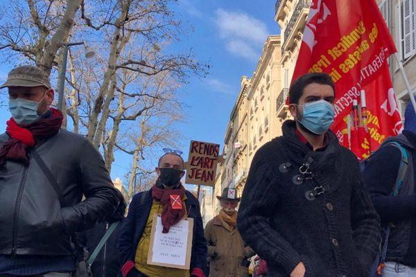 Manifestation pour la culture à Marseille