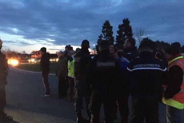Les gendarmes sont sur place