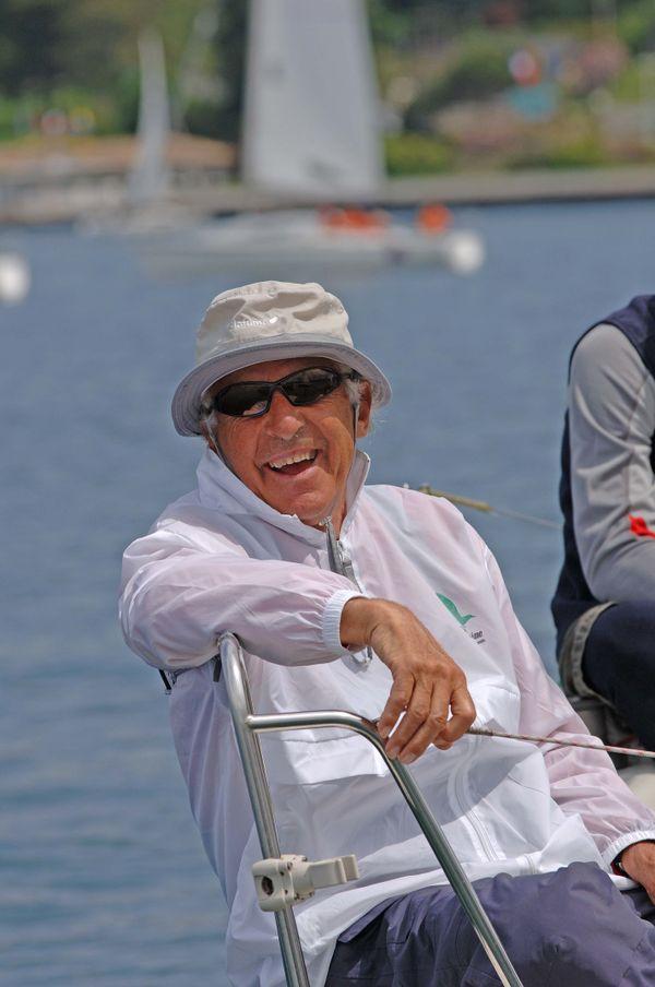 Bertrand Chéret (ici à Thonon les Bains en 2006), près de 80 ans de régates à son palmarès.