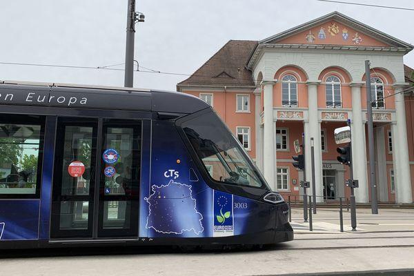 Le tram de retour à Kehl, après 2 mois d'arrêt, vendredi 22 mai 2020