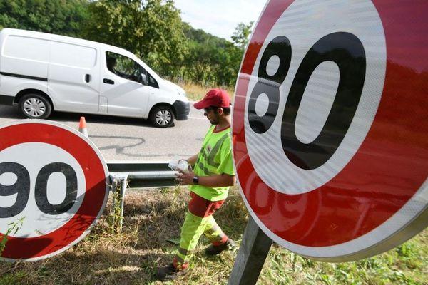 Supprimés en 2018, les panneaux de limitation à 90 km/h vont revenir dans le Jura (illustration)