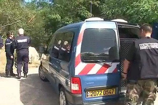 La gendarmerie sur les lieux du drame - 17 septembre 2013