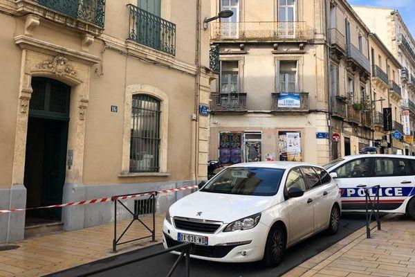 Montpellier, rue Arisitide Olivier, c'est dans cette rue proche de la gare que se situait l'appartement de la jeune femme.
