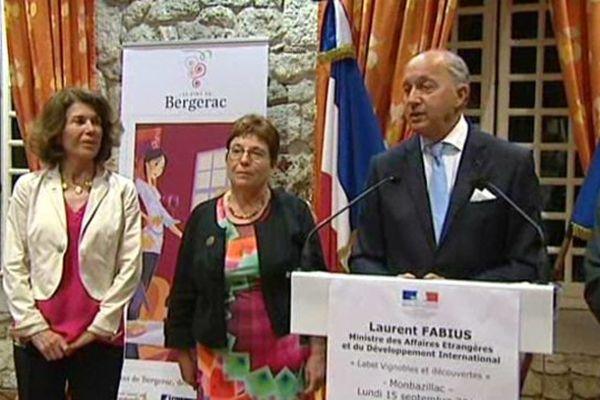 Laurent Fabius à Monbazillac.