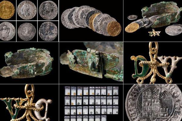 Des pièces d'or et d'argent, provenant de plusieurs pays d'Europe, ont été trouvées sous le sol d'une maison à Dijon par des archéologues de l'Inrap (Institut national de recherches archéologiques préventives).