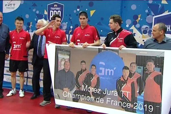 Le club de Morez est champion de France 2019 de tennis de table.