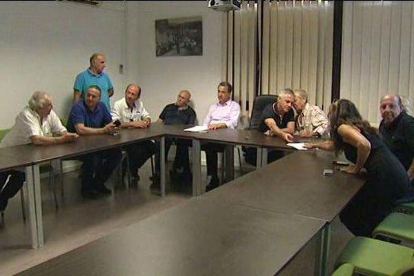 Les acteurs du dossier sur la gestion des déchets était réunis le 25 juillet à Prunelli