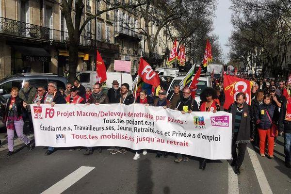 Réforme des retraites : Cortège Cours Clémenceau à Bordeaux le 29 janvier