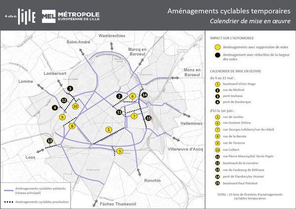 Les principaux aménagements prévus dans la Métropole Européenne de Lille