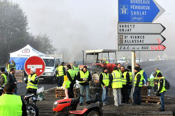 Le rond-point de Cana, le 24 novembre, à Brive. PHOTO D'ILLUSTRATION.
