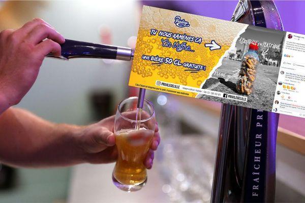 Pendant la grande Braderie, un bar lillois offre une bière en échange d'une bouteille de mégots pleine.
