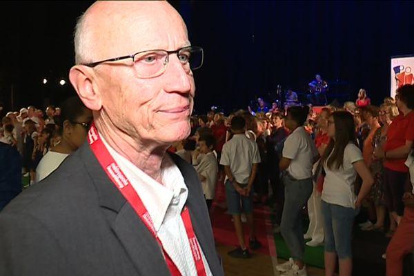 Michel Thirion, en 2018 lors du festival de chant choral Nancy voix du monde