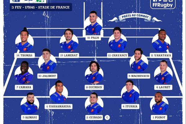 voici les sélectionnés pour le match face à l'Irlance samedi prochain