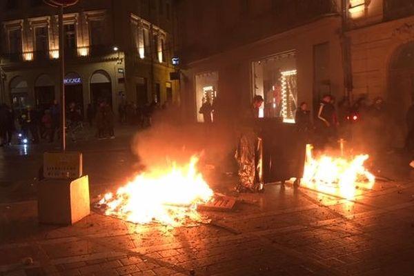 A Montpellier le 12 janvier, la 9ème journée de manifestation a été marquée par de nouveaux incidents.