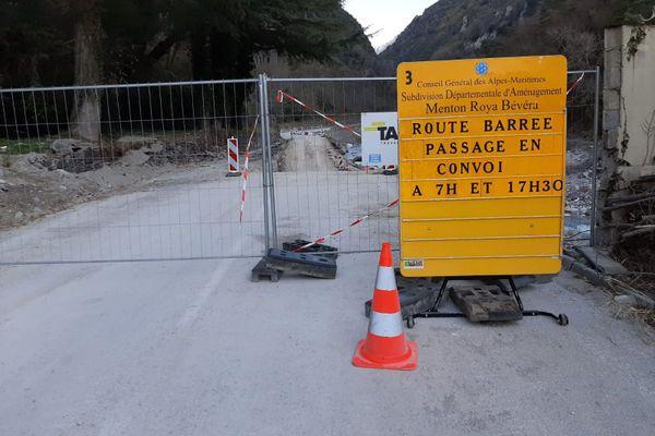 Une accès partiel à Tende par la route est désormais possible depuis le lundi 23 novembre.