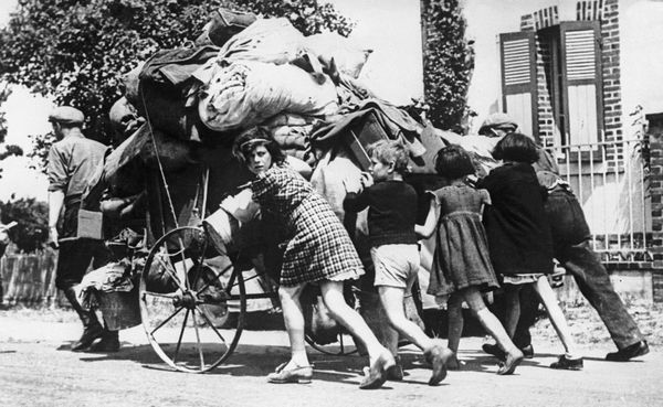 Guerre 1939-1945. Exode de mai-juin 1940 en France