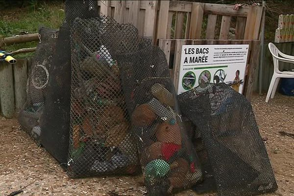 Une partie des déchets ramassés sur la plage d'Aytré en Charente-Maritime.