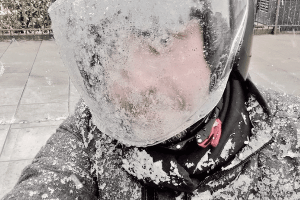 La Sibérie ? Non, la Côte d'Azur un 26 février sous la neige et le froid !