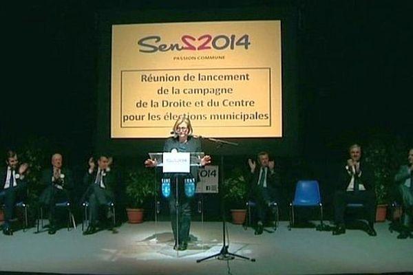 Marie-Louise Fort, députée UMP de la troisième circonscription de l'Yonne, brigue de nouveau la mairie de Sens.
