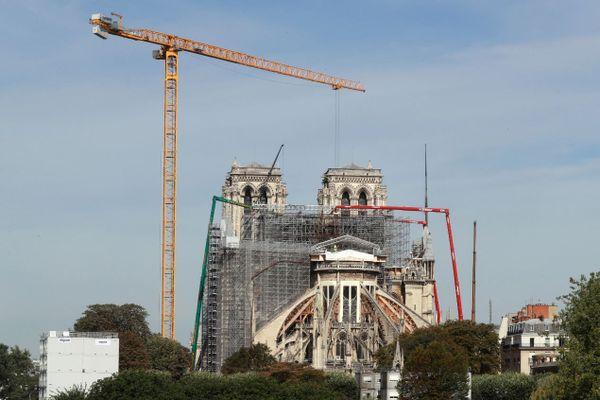 Le chantier de Notre-Dame, le 22 juillet.