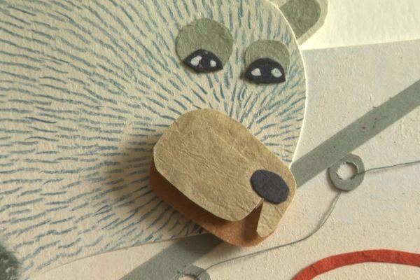 """L'ours du prochain livre de Céline Azorin """" Nukka et Ours"""" sortie vers le 15 novembre chez Zinc éditions"""